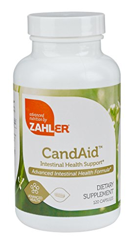 Zahlers CandAID, Candida Cleanse, Yeast Infection Treatment with Caprylic Acid, Powerful Detox Cleanse Supplement, Certified Kosher, 120 Capsules