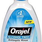 Orajel Alcohol-Free Antiseptic Mouth Sore Rinse, 16 Fluid Oz