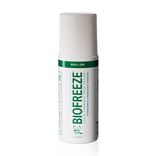 Biofreeze Pain Relief Gel for Arthritis, 3 oz. Roll-on Topical Analgesic, Fast Acting and Long Lasting Cooling Pain Reliever Cream for Muscle Pain, Joint Pain, Back Pain, Original Green Formula