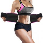 Perfotek Waist Trimmer Belt, Weight Loss Wrap, Stomach Fat Burner, Low Back and Lumbar Support with Sauna Suit Effect, Best Abdominal Trainer (Trimmer Belt – Pink)
