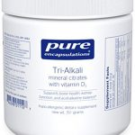 Pure Encapsulations – Tri-Alkali – Mineral Citrates with Vitamin D3 to Support Bone Health, Kidney Function, and Acid-Alkaline Balance* – 351 Grams