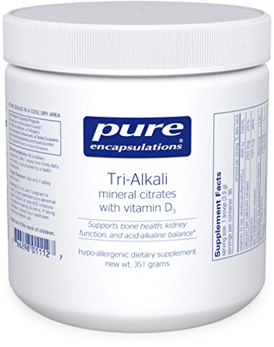Pure Encapsulations - Tri-Alkali - Mineral Citrates with Vitamin D3 to Support Bone Health, Kidney Function, and Acid-Alkaline Balance* - 351 Grams