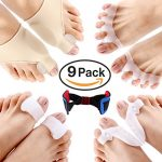 Bunion Corrector & Bunion Relief Protector Sleeves Kit, Treat Pain in Hallux Valgus – Tailors Bunion – Big Toe Joint – Hammer Toe – Toe Separators Spacers Straighteners splint Aid surgery treatment