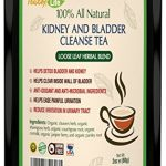 Kidney cleanse detox tea with parsley, juniper berries, cleavers herb for urinary tract health, bladder and kidneys – Organic natural herbal supplement flush formula |USDA | Made in USA