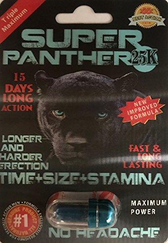 Super Panther 25K Men Sexual Supplement Enhancement 10 Pills Pack