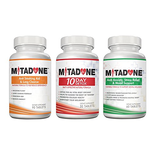Mitadone Anti Smoking Pills 3 Step Program to Curb Nicotine Addiction Detox Cleanse Lungs and Respiratory System Quit Smoking Nicotine Free helps with Cravings Anxiety Stress ( 240 Count)
