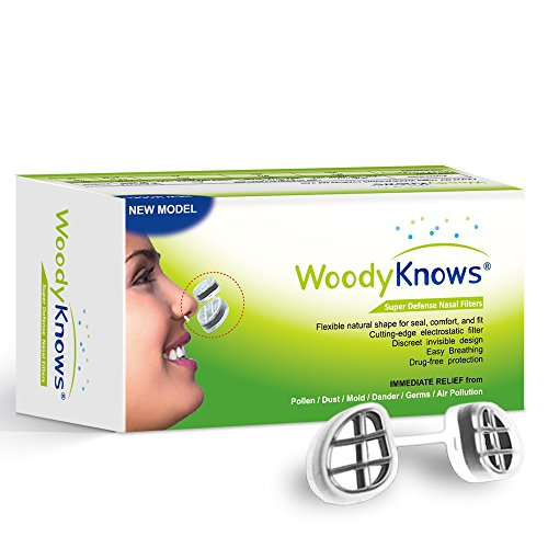 WoodyKnows Super Defense Nose Nasal Filters (New Model) Reduce Pollen, Dust, Dander, and Mold Allergens Allergy, Air Pollution PM2.5(4 Frames and 8 Pairs of Replacement Filters)(I-R/II-R/III-R/IV-R)