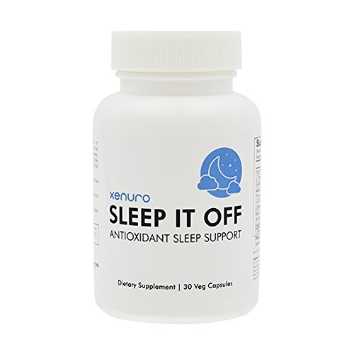Xenuro Sleep It Off - Antioxidant Sleep Support - Natural Sleep Aid with Tart Cherry, SOD, L-Theanine, GABA, Melatonin, 5-HTP - Non Habit Forming Enhanced Absorption Sleeping Pill