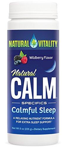 Natural Vitality Natural Calm Calmful Sleep Magnesium Anti Stress Extra Sleep Support, Organic, Wildberry, 8 oz