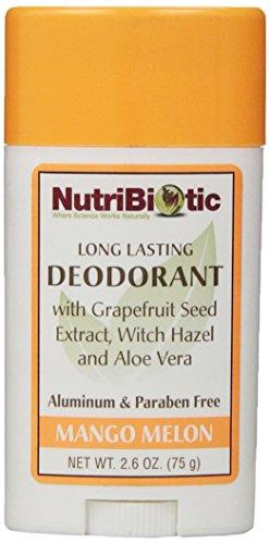 Nutribiotic Deodorant, Mango Melon, 2.6 Oz