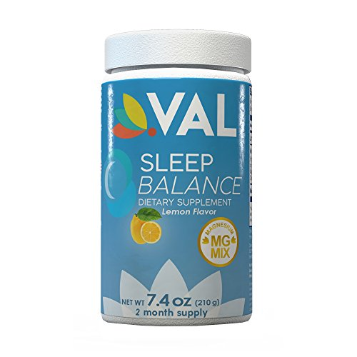 NEW Sleep Aid Balance Drink by VAL with Melatonin 5mg, Magnesium Citrate, Glycinate, Chelate 350mg & L-Theanine   Fall Asleep and Stay Asleep Advanced Formulation   Natural Non-Habit Forming
