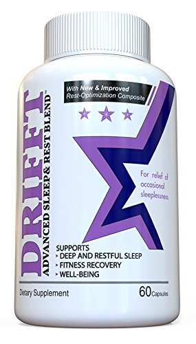 DRIFFT - Natural Sleep Aid Pills - Advanced Rest and Recovery Blend - for Deep Sleeping and Help With Insomnia - Full Month Supply