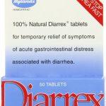 Hyland's Diarrex Tablets, Natural Relief of Diarrhea Symptoms, 50 Quick Dissolving Tablets