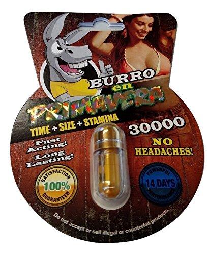 NEW BURRO EN PRIMAVERA 30000 All Natural Male Enhancement Sex Pills Increase Libido Stamina Energy Booster (Multi Packs) (3)