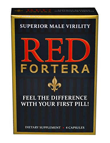 Clinically Tested Red Fortera Fast Acting Tribulus Energy Performance Booster | Increase Performance and Stamina On-Demand (4 Capsule Included)