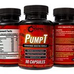 Zappa Nutrition PumpT – Testosterone Boosting Formula for Men, Sexual Health, Strength Muscle Enhancement, Weight Loss, Test Boost, Sexual Supplements, Pills, Tablets, Testo, Natural, Endurance, Fuel