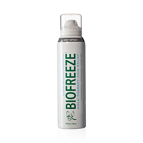 Biofreeze Pain Relief 360 Spray for Muscle Pain, 4 oz. Topical Analgesic with Colorless Formula, Cooling Pain Reliever Great for Joint Pain, Soreness, & Arthritis, Works Like Ice Pack, 10.5% Menthol