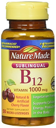 Nature Made Vitamin B-12 1000 MCG Sublingual, 50 Count (Pack of 3)