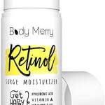 Body Merry Retinol Surge Moisturizer – All in one anti aging / wrinkle & acne face cream w natural Hyaluronic Acid + Vitamins for day and night use – Perfect for men & women for deep hydration & care