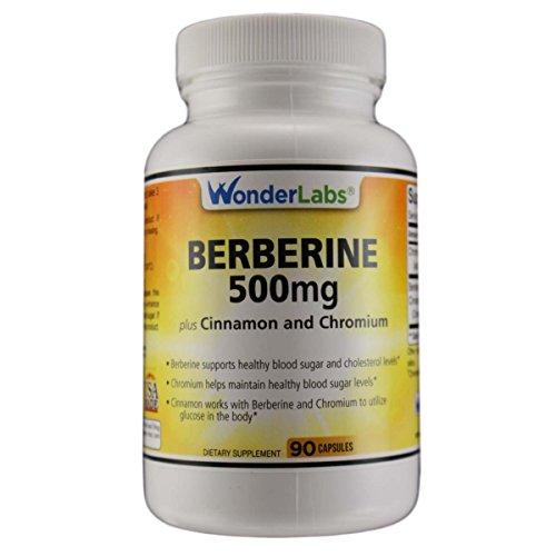 Berberine Cholesterol Blood Sugar Supplement: HCL 500+ TripleDefense Gluten & GMO Free Maintenance for Glucose, Metabolism, Heart & Immune System Health - Anti Inflammatory Cinnamon Chromium Detox