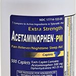 Acetaminophen PM 500 Caplets Generic for Tylenol PM Extra Strength Pain Reliever, Fever Reducer, Antihistamine & Nighttime Sleep Aid Acetaminophen 500 mg & Diphenhydramine 25 mg