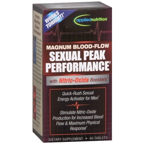 Magnum Blood-Flow Sexual Peak Performance, Tablets 40 ea By Applied Nutrition(Pack of 1)