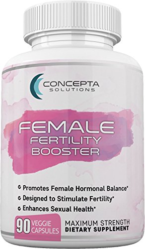 Concepta Female Fertility Booster (45 Day Supply) Support for Egg Quality, Hormonal Balance, Women's Reproductive Health, Increase Libido - 90 Vegetarian Pills 1570mg