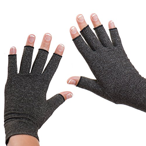 Dr. Frederick's Original Arthritis Gloves - Warmth and Compression for relief of Rheumatoid and Osteoarthritis Joint Pain - Medium