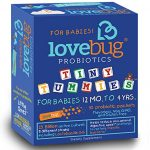 LoveBug Tiny Tummies Probiotics, 30 Packets, Probiotic Supplements for Children 12 Months To 4 Years, for Digestive Health and Immune System Support – Recommended with Kids Vitamins