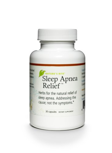 Natures Rite Sleep Apnea Relief All Natural Supplement 30 Capsules 550 mg
