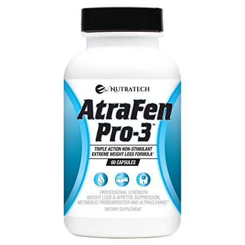 Nutratech Atrafen Pro-3 in 1 Stimulant Free Fat Burner Blend Provides Weight Loss and Appetite Suppression, A Daily Dose of Probiotics for Digestive Health, and an Entire Body Detox and Cleanse