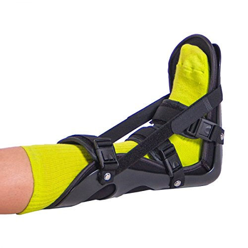 BraceAbility Sleeping Stretch Boot | Nighttime Foot Splint Treatment Brace with Adjustable Straps for Plantar Fascia, Achilles Tendon and Calf Stretching to Treat Heel & Arch Pain (Medium)