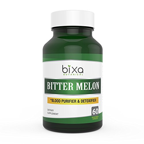 Bitter melon Extract Veg capsules 60 Count (450mg) (Momordica Charantia / Karela extract), Supports normal blood sugar levels | Improves Liver functions | useful in Skin Diseases & blood oxygenation