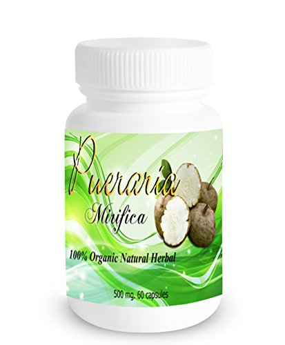 60 Caps X 500mg Pueraria Mirifica Powder Root Extract Breast Best Enhancement Augmentation Grown in Thailand Highest Mountain