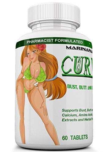 CURVIMORE The Only Breast Enlargement, Butt Enlargement and Lip Plumping 3 in 1 Formula - Natural Bust and Butt Enhancement Pills - Enjoy Larger, Fuller, Firmer Breasts, Butts and Lips.