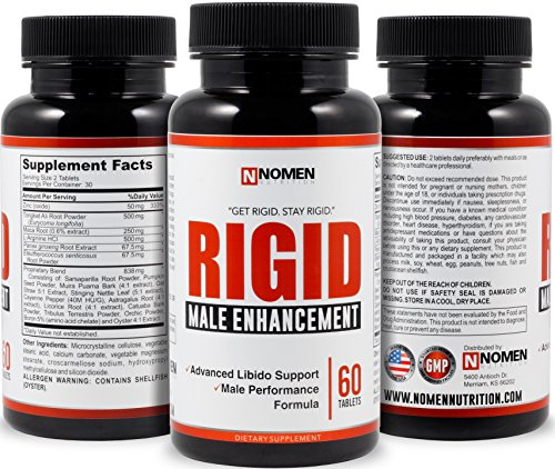 Rigid Extreme Male Enhancement Testosterone Booster - Male Enhancing Pills Increase Size, Libido, Stamina & Vitality - Fast Acting Formula for Optimal Male Health - 60 Tablets