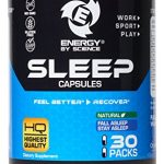Best Natural Sleeping Aid Sleep Boosting Pills Extra Strength Capsules Supplement – Rest and Recover