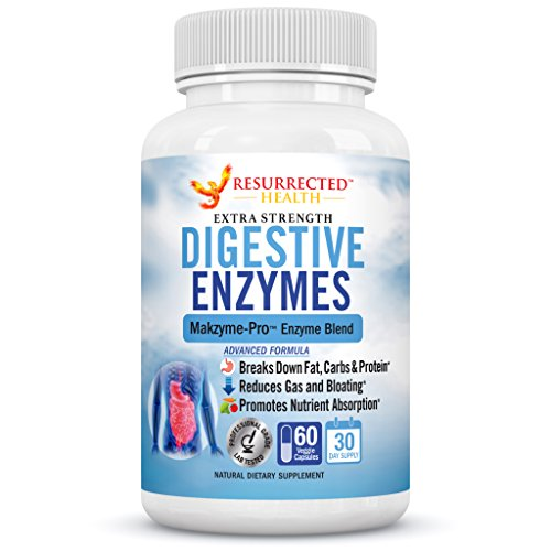 Digestive Enzymes - Aids in Digestion and Nutrient Absorption - Multi Enzyme Supplement for Bloating & Gas Relief - Helps with IBS + Stomach Aches + Lactose Intolerance + Leaky Gut + Acid Reflux