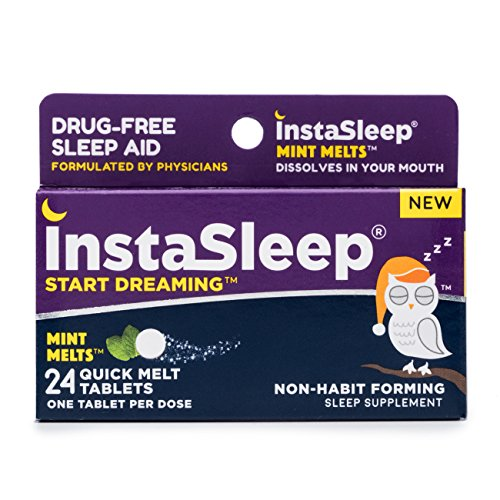 Instasleep Mint Melts Quick Melt Drug Free Sleep Aid Formulated By Physicians, Great Tasting and Fast Acting