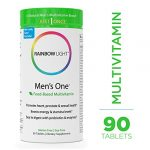 Rainbow Light – Men's One Multivitamin – Probiotic, Enzyme, and Vitamin Blend; Supports Energy, Stress Management, Heart, Prostate, Muscle, and Sexual Health in Men; Gluten Free – 90 Tablets