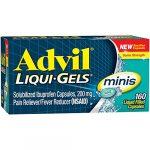 Advil Liqui-Gels minis (160 Count) Pain Reliever / Fever Reducer Liquid Filled Capsule, 200mg Ibuprofen, Temporary Pain Relief