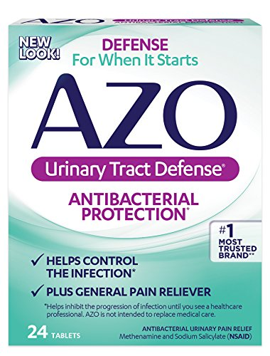 AZO Urinary Tract Defense – Antibacterial Protection∞ – Helps Control the Infection∞ – Plus General Pain Reliever – 24 Tablets (Packaging may vary)