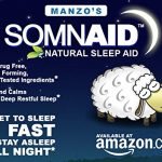 Somnaid Natural Sleep Aid (60 Tablets) Melatonin / 5-Hydroxytryptophan / L-Theanine