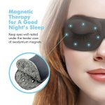 Sleep Mask For Woman & Man , PaiTree Magnetic Therapy Eye Mask for Sleeping Eye Covers Sleep Blindfold , Super Soft – 3D Contoured Eye Space -Professionally-Made Night Mask Eye Shade (Black)
