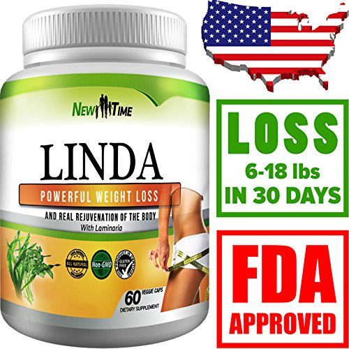 LINDA - Weight Loss Pills for Women & Men, Herbal Diet Supplements, Natural Fat Burner and Appetite Suppressant that work fast, Best diet pills 2017