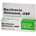 Bacitracin First aid Antibiotic Ointment, USP – 1/2 Oz