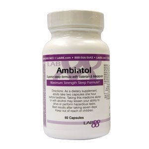 Ambiatol - Effective Sleep Aid Supplement - By Lab88 - Made in the USA - Don't You Deserve a Restful Night's Sleep?