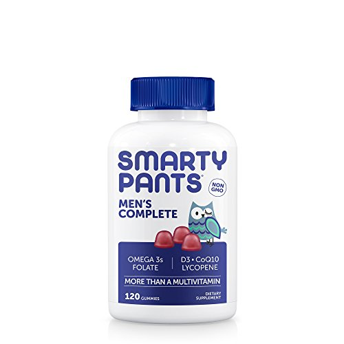 SmartyPants Men's Complete Gummy Vitamins: Multivitamin, CoQ10, Lycopene & Omega 3 Fish Oil (DHA/EPA Fatty Acids), 120 Count, 20 Day Supply