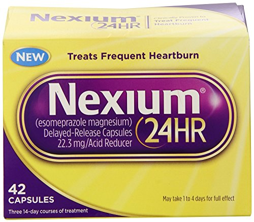 Nexium 24HR Capsules, 42 Count , Pack of 2