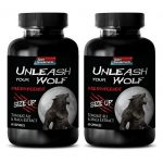 "Male Enchantment Pills for Men – Male Sexual Performance Enhancement ""Unleash Your WOLF"" Tongkat Ali Extract, Maca Extract (2 Bottles)"